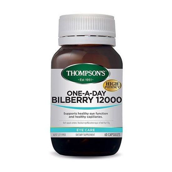 Thompson's ONE-A-DAY BILBERRY 12000 60C