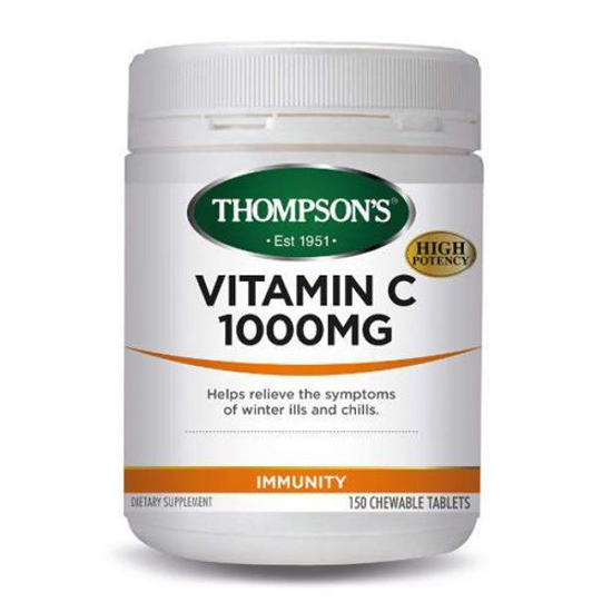 Thompson's VITAMIN C 1000MG CHEWABLE 150T