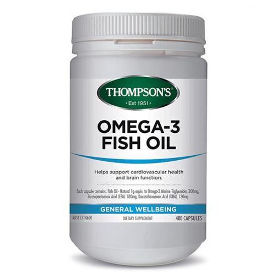 Thompson's OMEGA 3 FISH OIL 1000MG 400C