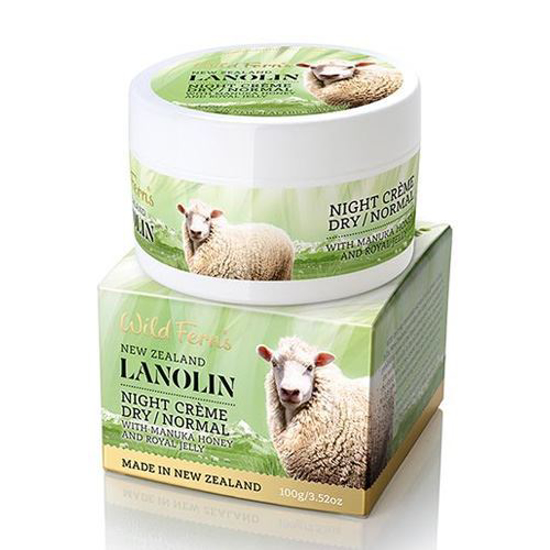 Parrs Lanolin Night Creme Dry/Normal with Manuka Honey n Royal Jelly 100g