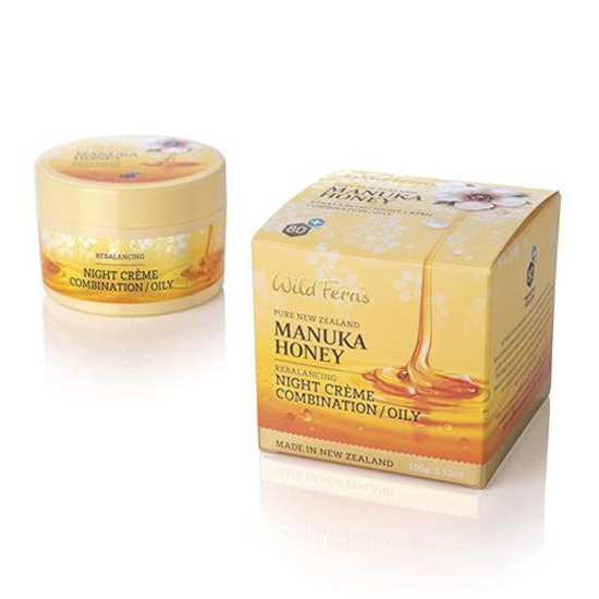 Parrs Manuka Honey Night Creme Combination/Oily 100g