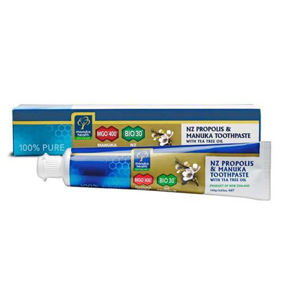 Manuka Health Propolis & MGO™400 Manuka Toothpaste with Tea Tree Oil 100g