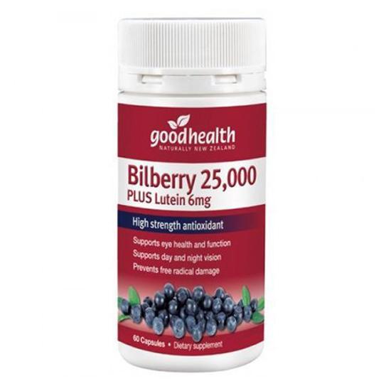 Goodhealth Bilberry 25,000mg Plus Lutein 6mg 60 caps