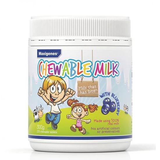 Maxigenes Chewable Milk with Blueberry 150tabs