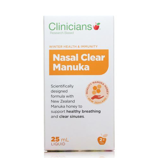 Clinicians Nasal Clear Manuka 25ml