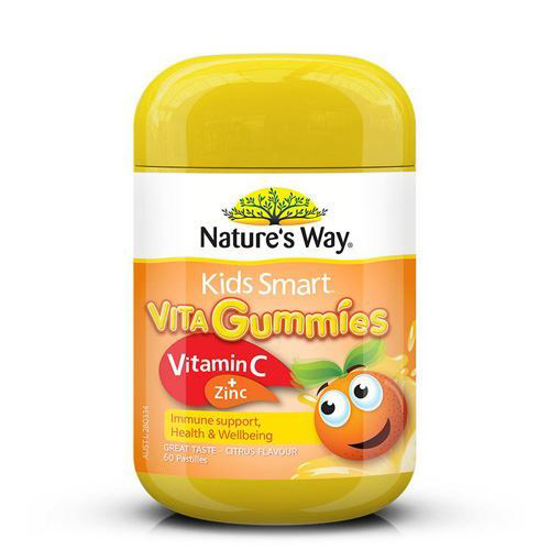 Nature's Way Kids Smart Vita Gummies Vitamin C + Zinc 60 Pastilles