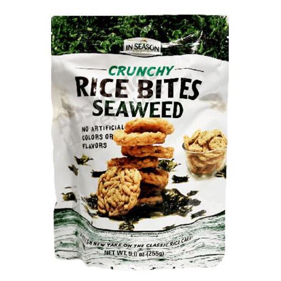In Season Snacks Crunchy Rice Bites Seaweed 255g
