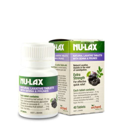 Nu-Lax Natural Laxative Senna Prunes Tablets 40 tabs
