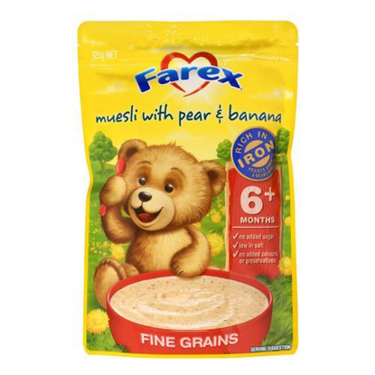 Farex Muesli with Pear & Banana 6 month + 125g