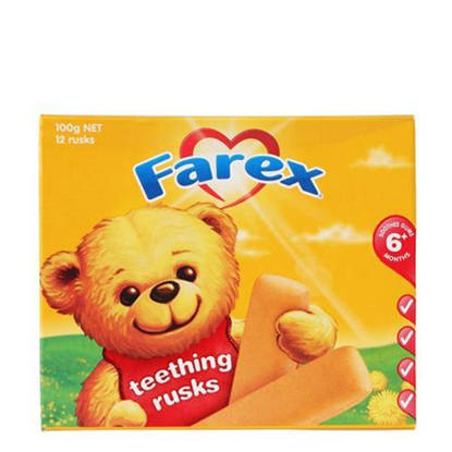 Farex Teething Rusks 6 month+ 100g