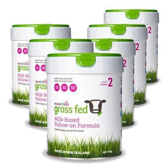 Munchkin Grass Feed Stage 2 (6-12 months) 730g x 6