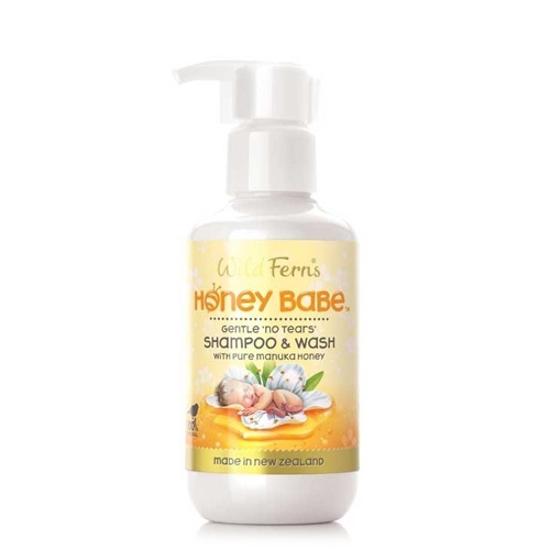 Wild Ferns Honey Babe Gentle Shampoo & Wash 140ml