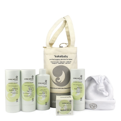 Living Nature Kekebaby Organic Gift Pack (All range products + Beanie)