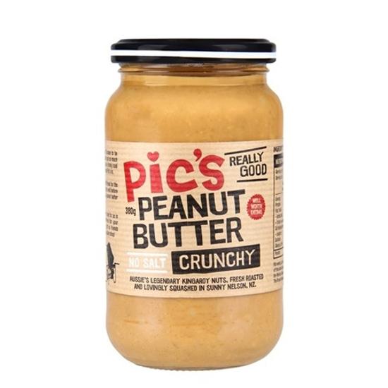 Pic's Peanut Butter Crunchy - No Salt 380g