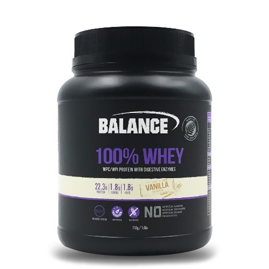 Balance 100% Whey Protein with Digestive Enzymes Vanilla 750g