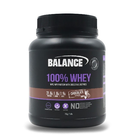 Balance 100% Whey Protein with Digestive Enzymes Chocolate 750g