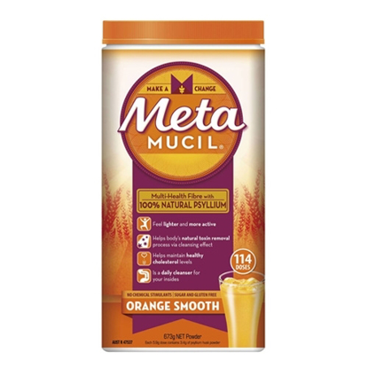Metamucil Multi-Health Fibre with 100% Natural Psyllium 114 Doses 673g