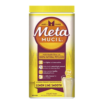 Metamucil Multi-Health Fibre Lemon Lime Smooth 114 Doses 673g