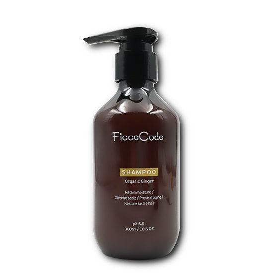 FicceCode Organic Ginger Shampoo 300ml