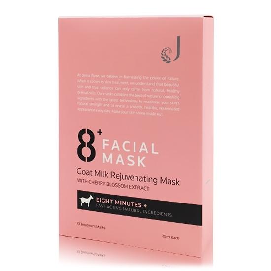 Jema Rose 8+ Minute Goat Milk Rejuvenating Facial Mask 10 pieces