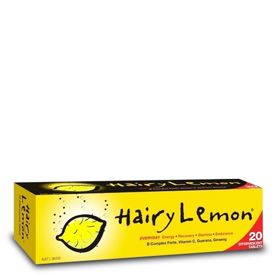 Hairy Lemon For Everyday Enery Recovery 20 effervescent tabs