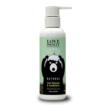 DQ & Co Love Society Natural 2in1 Shampoo & Conditioner Green Apple 180ml