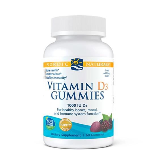 Nordic Naturals Vitamin D3 Gummies 1000IU 60 gummies