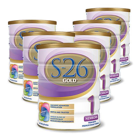 S-26 GOLD Newborn Stage 1 (0-6 months) 900g x 6