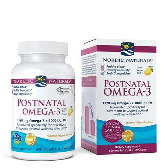 Nordic Naturals Postnatal Omega-3 + Vitamin D 60 caps