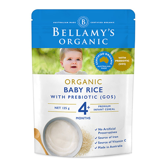 Bellamy's Organic Baby Rice All Ages from 4 Months 125g