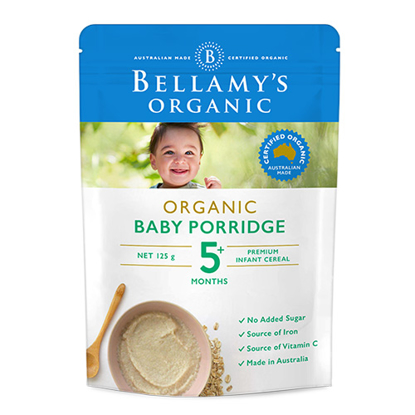Bellamy's Organic Baby Porridge All Ages from 5 Month 125g