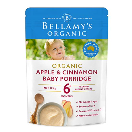 Bellamy's Organic Baby Rice Apple n Cinnamon 6 month 125g