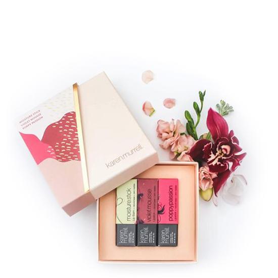 Karen Murrell Gift Set (Moisture Stick/Violet Mousse/Poppy Passion)
