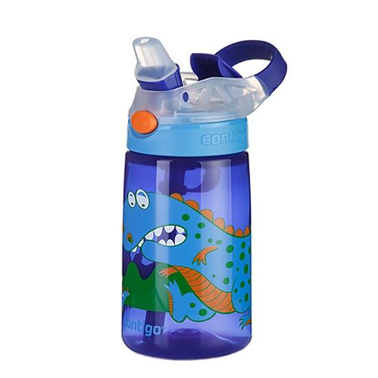 Kids Blue Dinosaur Gizmo Flip Water Bottle 3yr+ 414ml