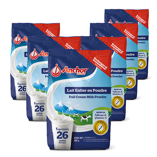 Anchor Full Cream Milk Powder Europe Version 800g x 6 bags