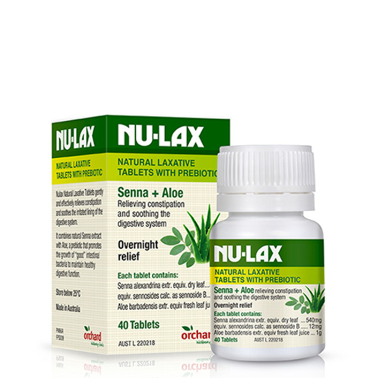 Nu-Lax Natural Laxative Senna Aloe Tablets 40 tabs