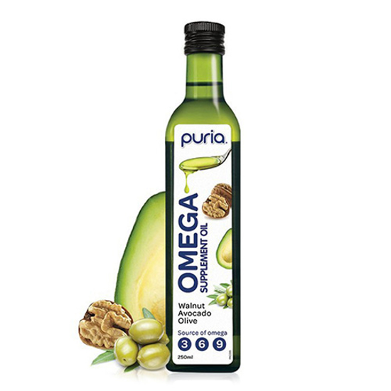 Puria Omega Supplement Oil Walnut Avocado Olive 250ml