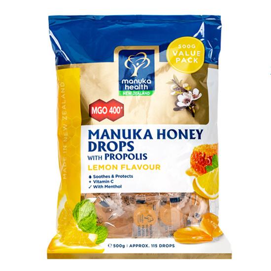 Manuka Health Manuka Honey Lozenges with Propolis Lemon Flavour 500g
