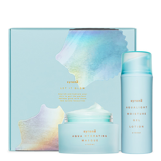 Syrene Let It Glow Gift Set Hydration Masque + Gel Lotion