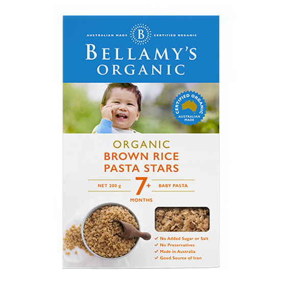 Bellamy's Organic Brown Rice Pasta from 7 month 200g