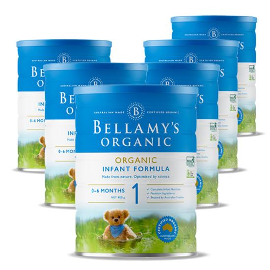 Bellamy's Organic 0-6 months Stage 1 900g x 6