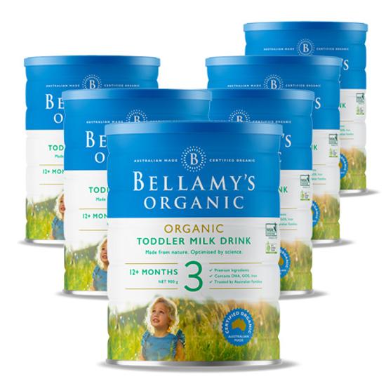 Bellamy's Organic Stage 3 (12 months+) 900g x 6