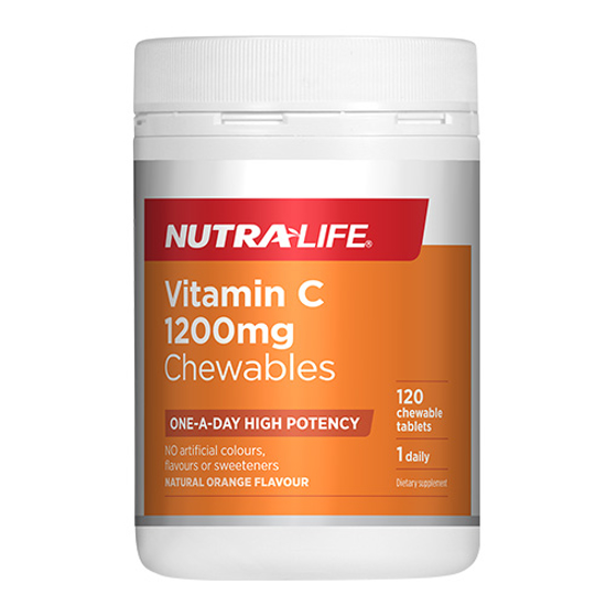 Nutralife One-A-Day Vitamin C 1200mg High Potency Tabs 120s