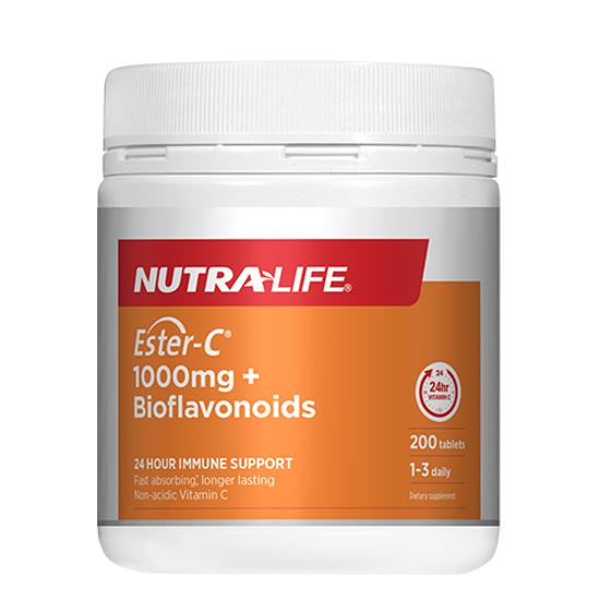 Nutralife Ester C 1000mg + Bioflavonoids Tabs 200s