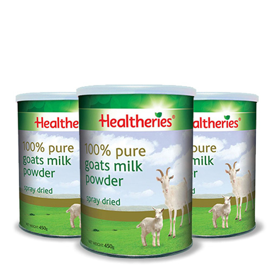 Healtheries Goat Milk Powder 450g x 3 cans