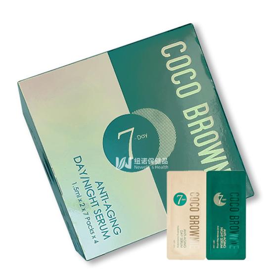 Coco Brownie Anti-Aging Day/Night Serum 1.5ml x 2 x 7 packs x 4