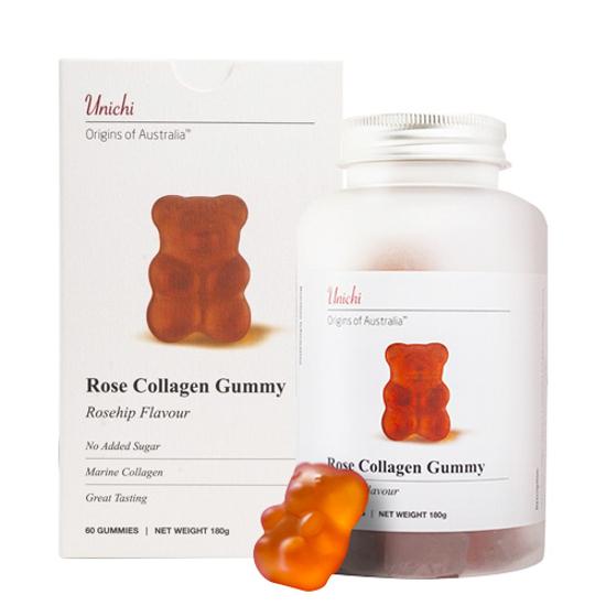 Unichi Rose Collagen Gummy 60 gummies