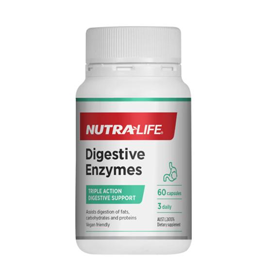 Nutralife Digestive Enzymes Caps 60s