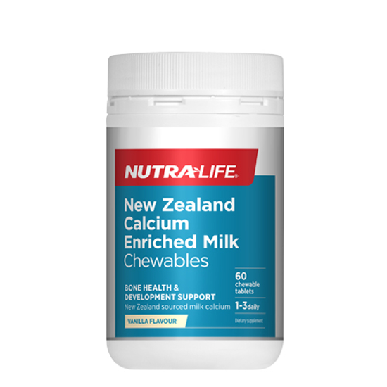 Nutralife NZ Calcium Enriched Milk Chews Tabs 60s