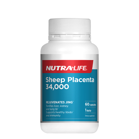 Nutralife Sheep Placenta 34000 With Vitamin D3 60 caps